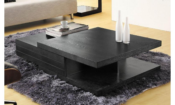 Stylish Black Wood Coffee Table