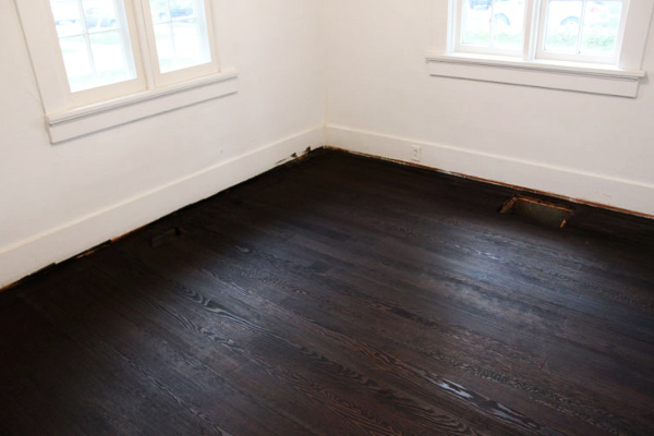 Black Wood Floor Stain