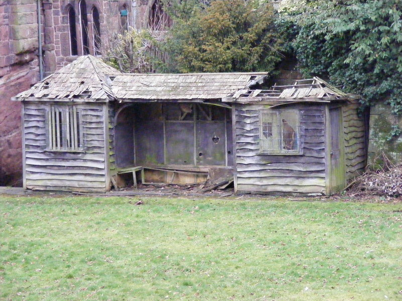 Broken down wooden shed