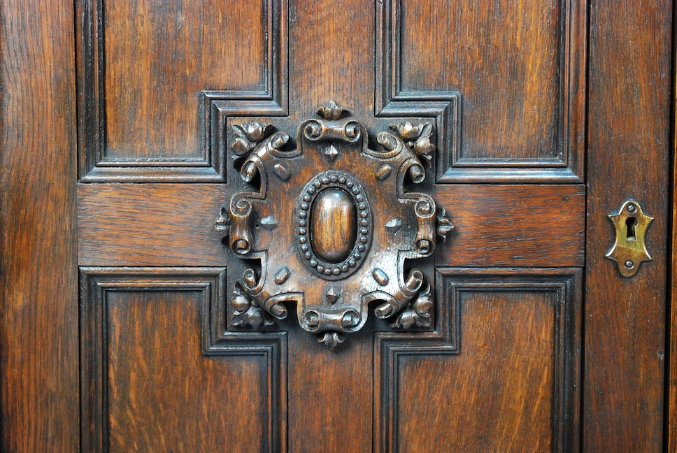 Carved English Oak Door