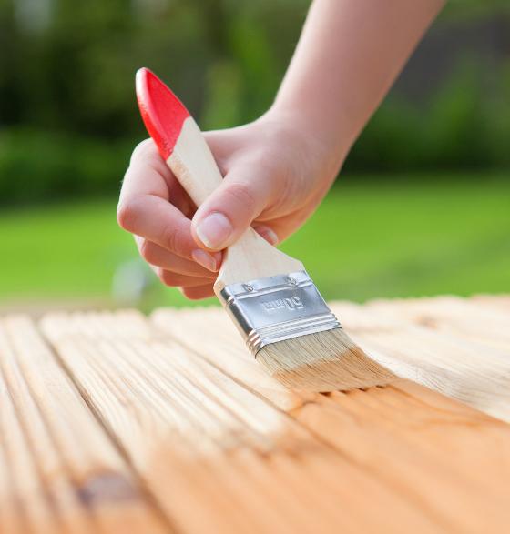 Brush application of varnish