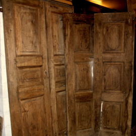 antique walnut doors