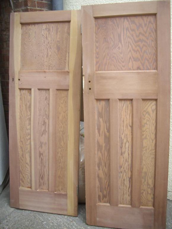 Reclaimed 1930s interior wood doors