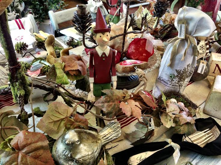 Rustic French Christmas Table