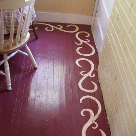Painted Hardwood Floor Border