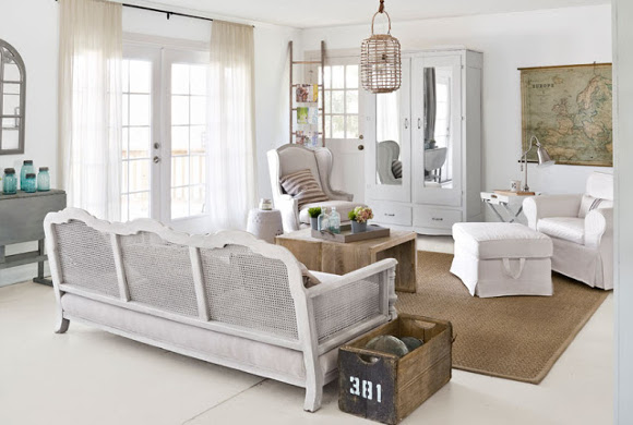 Rustic Chic White Interior