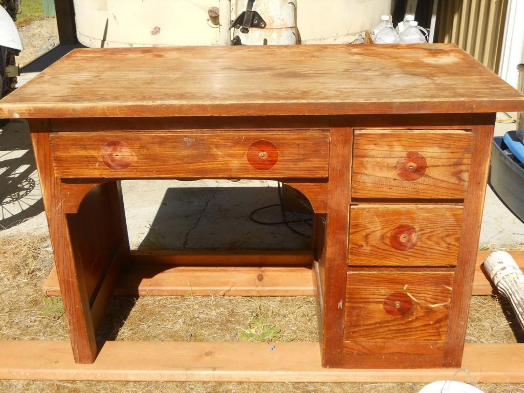 Desk Prepared For Shabby Chic Finish