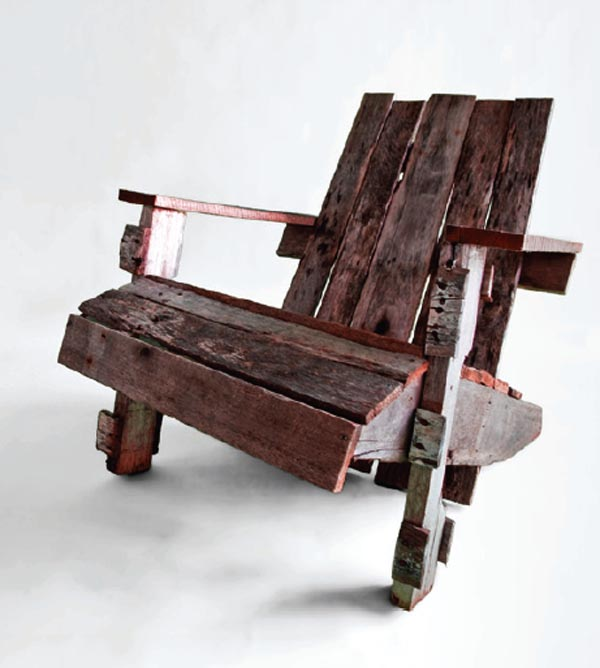 Chair Made from Old Pallet Wood