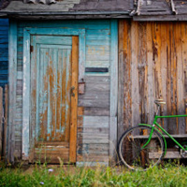 bicycle and old shed