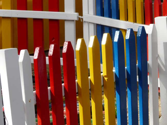 Colourful fence