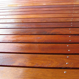 shiny decking