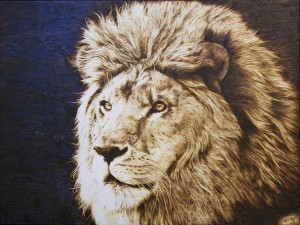 Lions-pyrography-royaltyfree