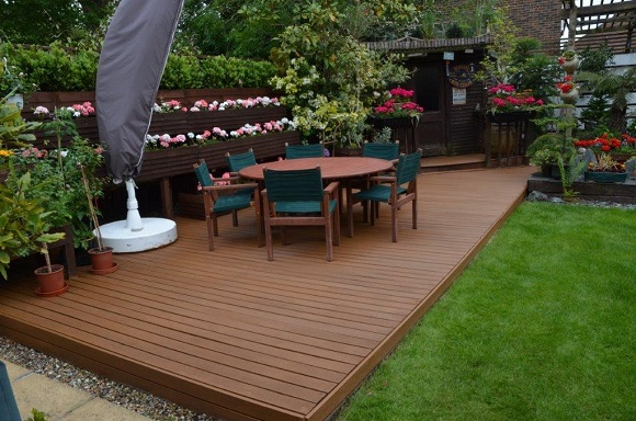 Wood finishing photos from our customers wood finishes for Garden decking varnish