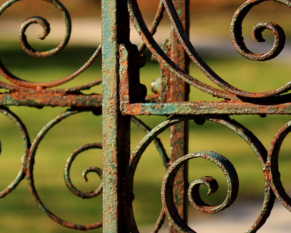 old-rusty-metal-garden-gate