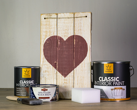 Valentines craft made by Wood Finishes Direct