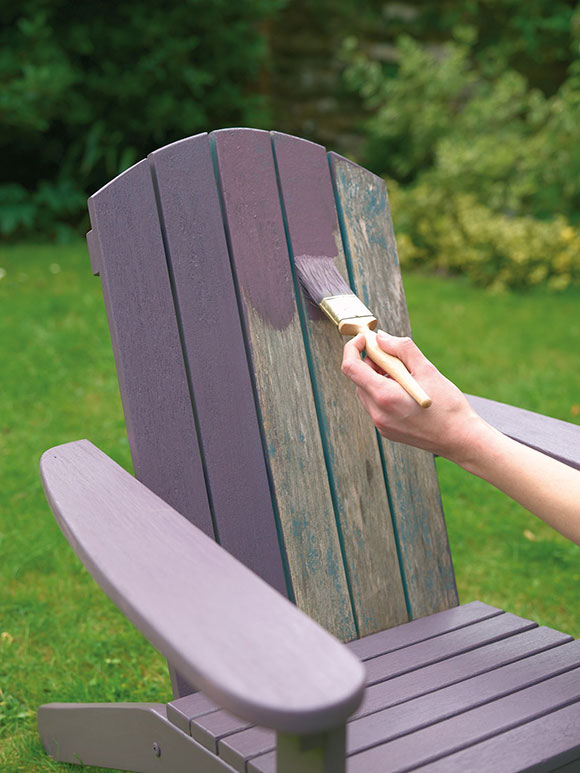 painting a garden chair with Cuprinol Garden Shades