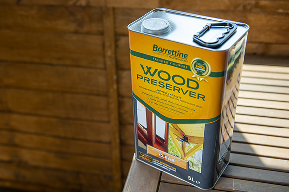 Barrettine wood preservers for exterior wood