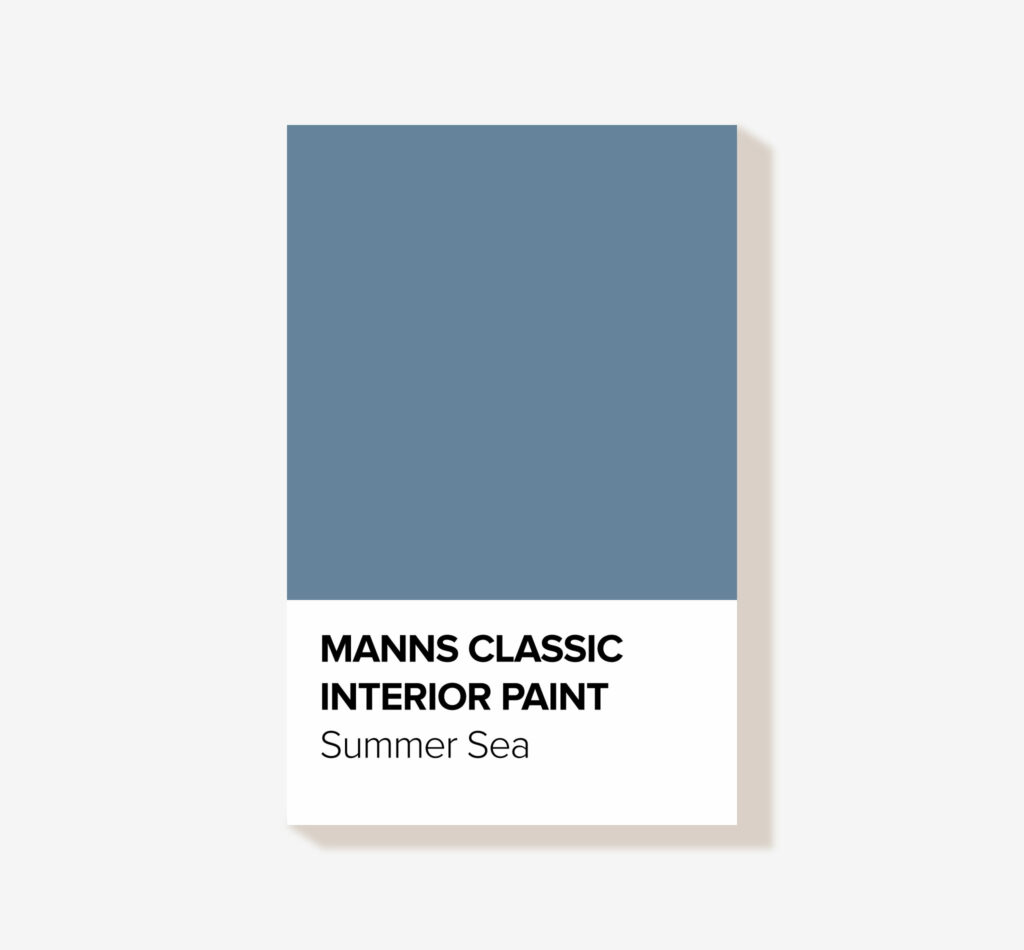 Manns Classic 'Summer Sea' Blue Interior Wood Paint