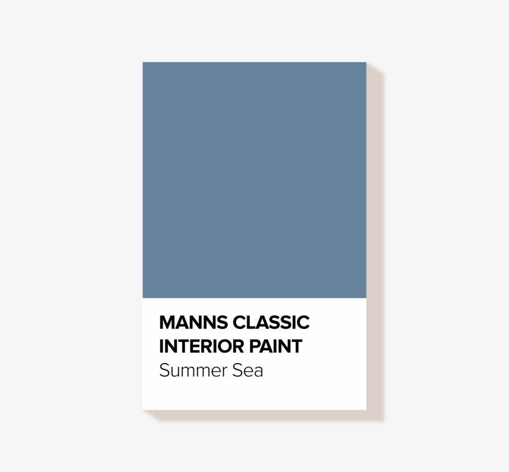 Manns Classic 'Summer Sea' Blue Interior Wood Paint