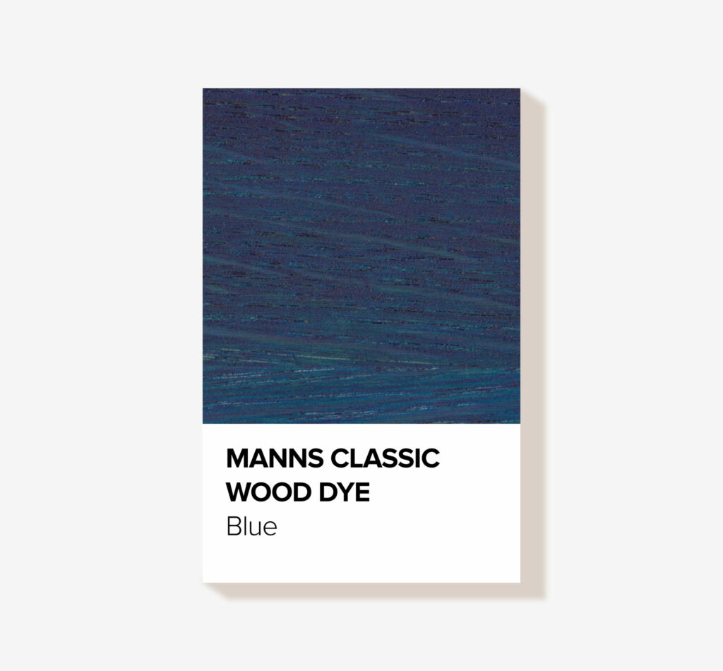 A classic blue wood stain for interior wood