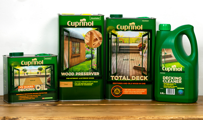 Cuprinol range of decking care products