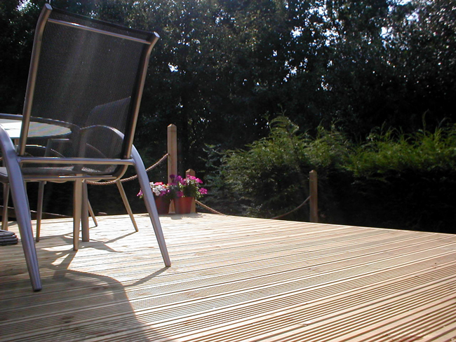 Garden decking needs treating before Autumn and Winter