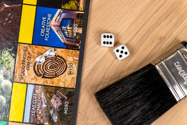 Wood Finishes Direct featured on the MONOPOLY Folkestone Edition