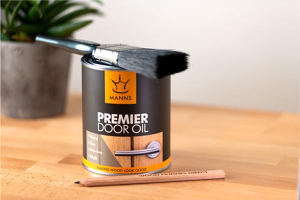 Manns Premier Door Oil for protection and enhancing internal wooden doors