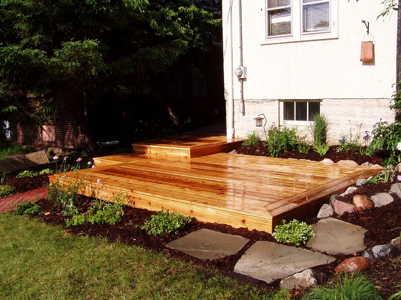 A beautiful example of cleaned and finished decking