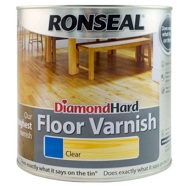 For A Floor That S Hard Wearing: Ronseal Diamond Hard Floor Varnish
