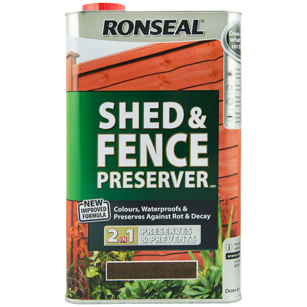 Ronseal Shed And Fence Preserver Best Fence Treatment