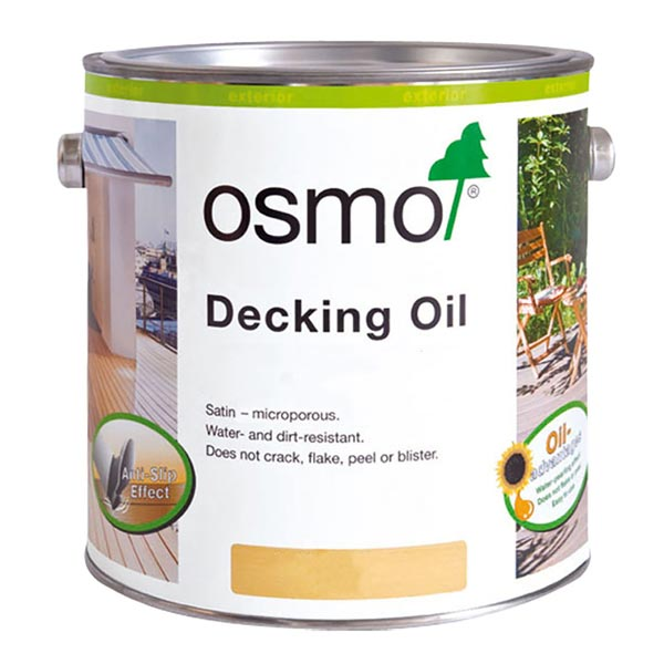 Osmo decking oil clear and coloured oils
