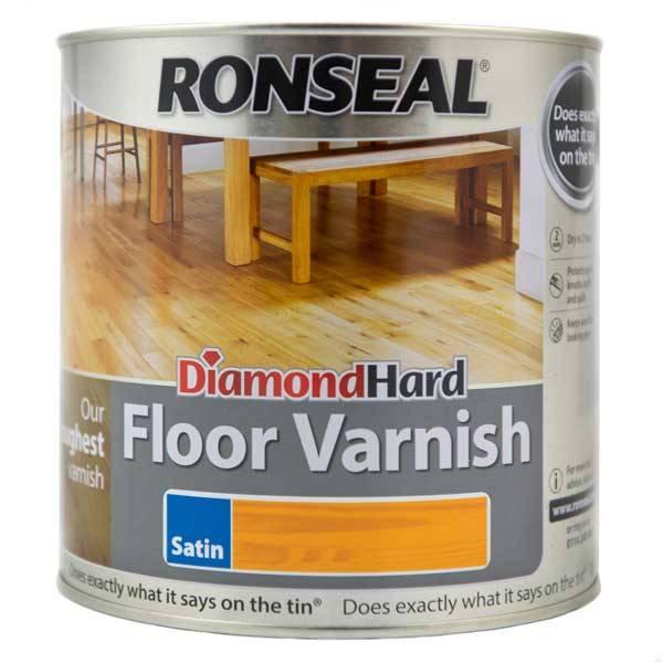 Ronseal diamond hard coloured floor varnish for Floor varnish matt