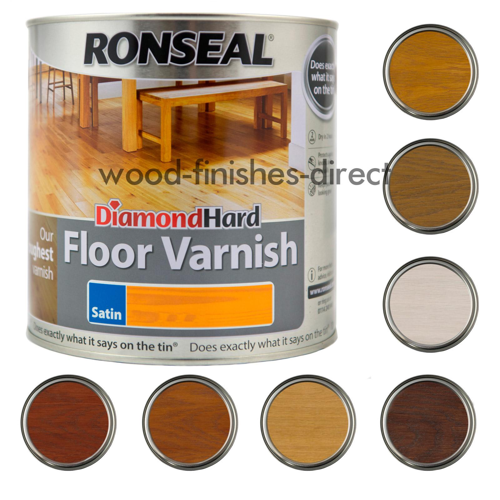 Ronseal Diamond Hard Coloured Floor Varnish 2 5l All Colours