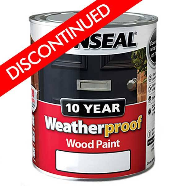 Ronseal 10 year weatherproof exterior wood paint gloss - Exterior wood paint black ...