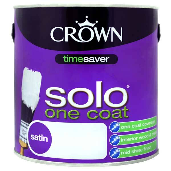 Crown solo one coat satin pure brilliant white paint for One coat white paint