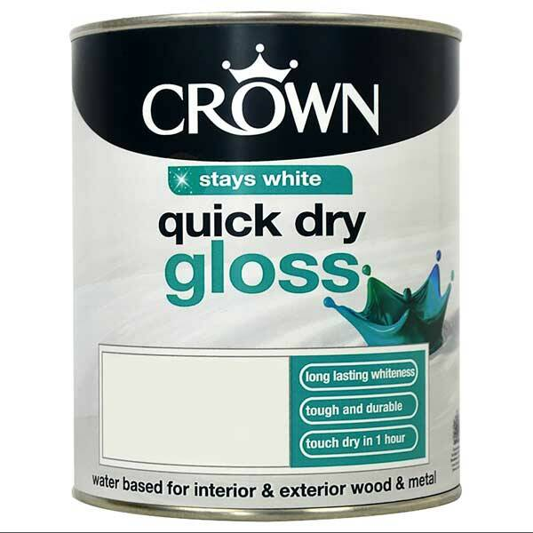 Crown Quick Dry Gloss Pure Brilliant White Paint