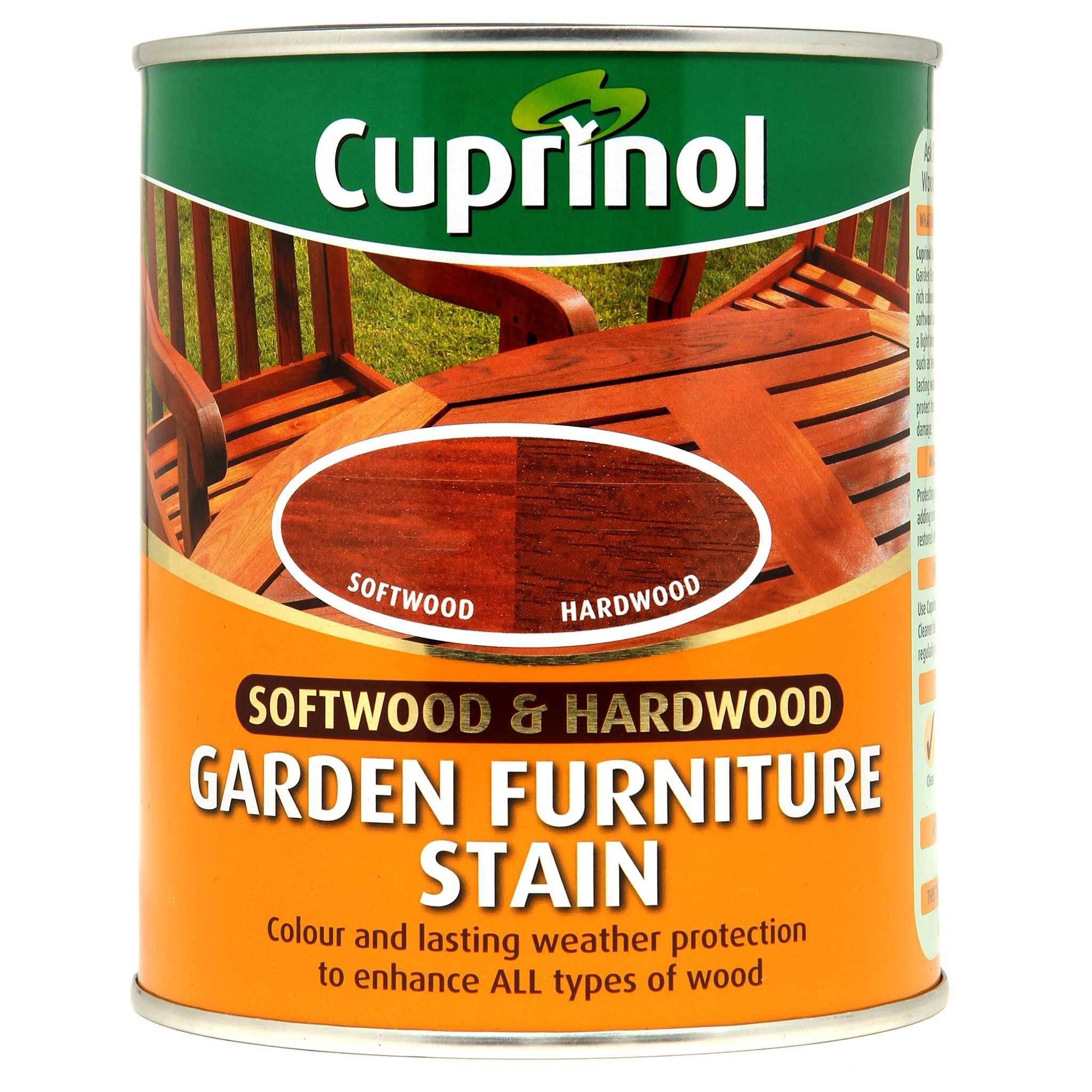 cuprinol garden furniture stain 750 ml hardwood and softwood