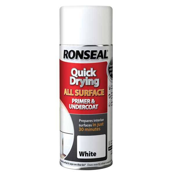 Ronseal Quick Drying All Surface Primer and Undercoat Aerosol Spray