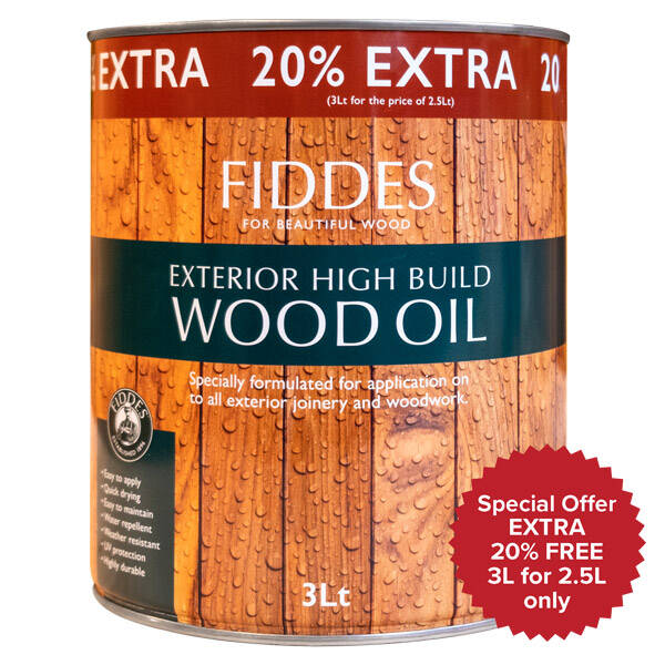 Fiddes Exterior High Build Wood Oil Wood Finishes Direct