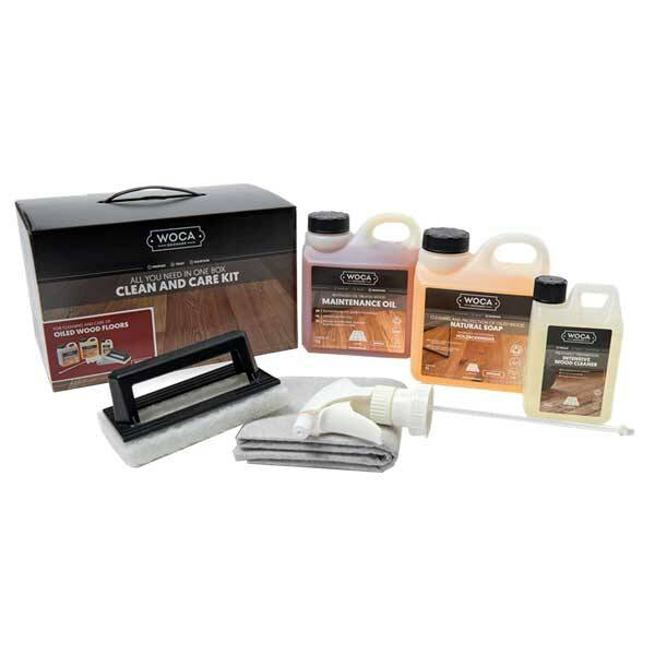 Woca Clean and Care Kit Oiled Wood Floors