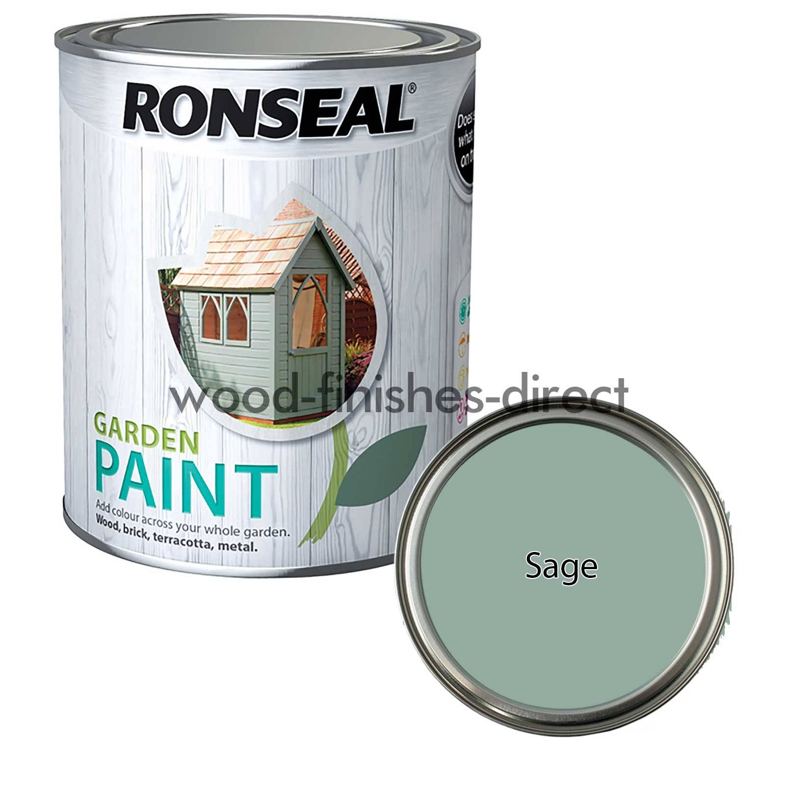 Ronseal Exterior Garden Paint Available in 28 Colours 250ml